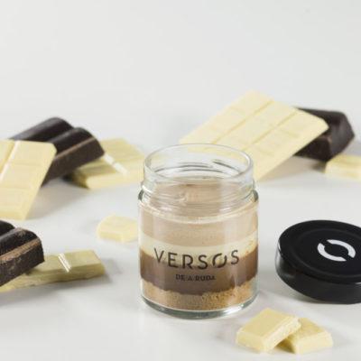 Verso de tres chocolates